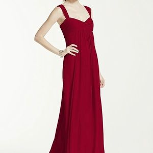 David's Bridal - Red Bridesmaids Dress